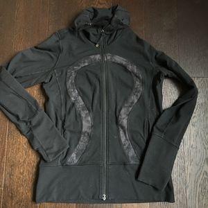 Lululemon In Stride Jacket - Black / Gray (Size 8)